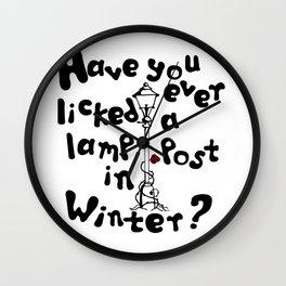 Lamppost in winter Wall Clock