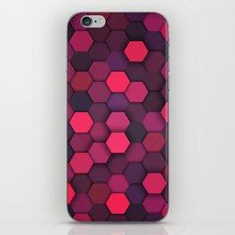 Geometric bright polygonal pattern  iPhone Skin