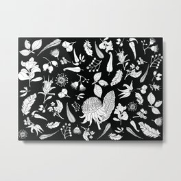 Native Australian Botanics Metal Print