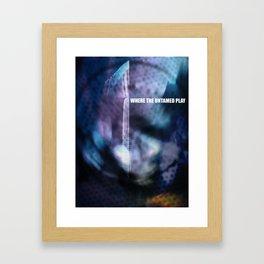 Where The Untamed Play Framed Art Print