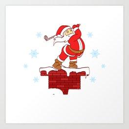 Your Hole Is My Goal Merry Christmas Design For December 25th T-shirt Design Jesus Birthday Carol Art Print