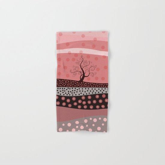 Marsala Landscape. Hand & Bath Towel
