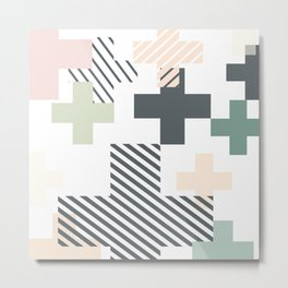 Simple Crosses Metal Print