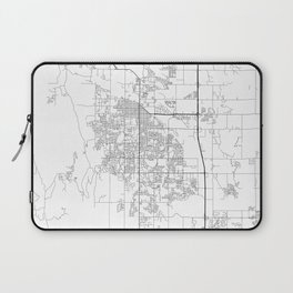 Minimal City Maps - Map Of Fort Collins, Colorado, United States Laptop Sleeve