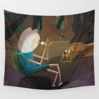 jake Wall Tapestries featuring Finn & Jake by modHero