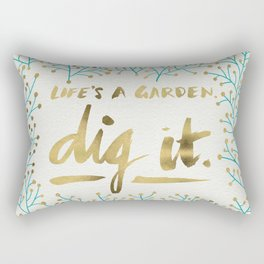 Dig It – Gold & Turquoise Rectangular Pillow