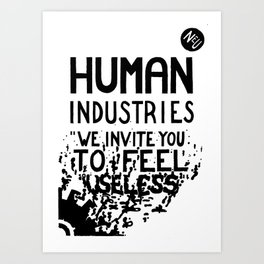WHITEOUT: Human Industries ( HUM- 019) Art Print