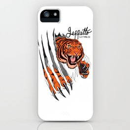 Geppetto Tiger Rip iPhone Case
