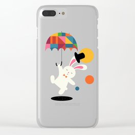 On the way to wonderland Clear iPhone Case