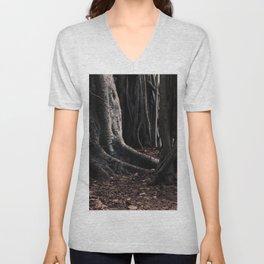 Spooky Winter Trees Unisex V-Neck