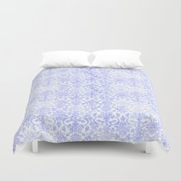 Periwinkle Damask Duvet Cover