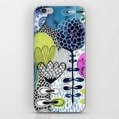 Indigo Blooms iPhone & iPod Skin