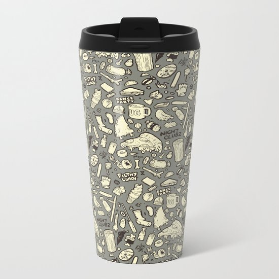 Filthy Lunch Dance Party Metal Travel Mug