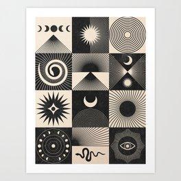 Esoteric Patchwork  Art Print