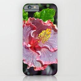 Pink hawaiin hibiscus iPhone Case