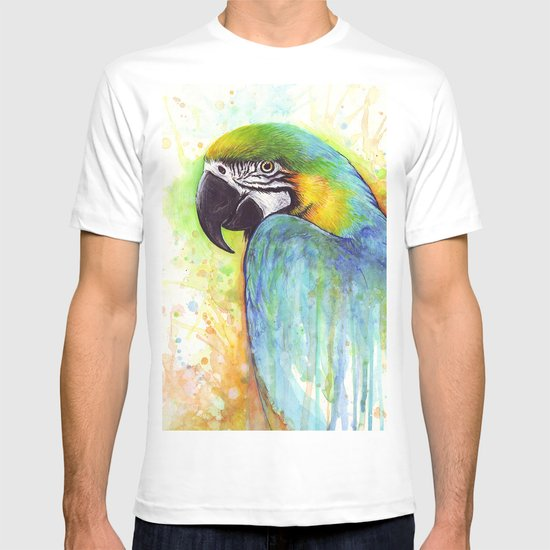 Bird Watercolor Animal Macaw T-shirt