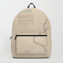Vintage Map of Tampa Bay FL (1855) Backpack