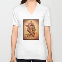 final fantasy V-neck T-shirts featuring Final Fantasy IX by Dice