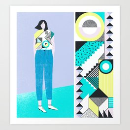 Pattern & Figure Art Print