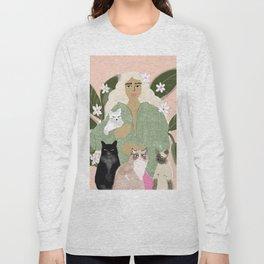 Cat Mom Long Sleeve T-shirt