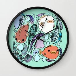 3 Fish Wall Clock
