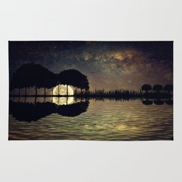 guitar island moonlight Rug