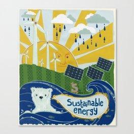Sustainable stuff Canvas Print