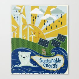 Sustainable stuff Canvas Print