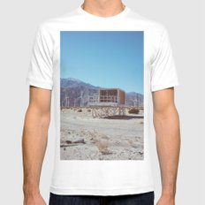 Palm Springs Windmills V MEDIUM Mens Fitted Tee White