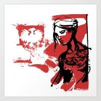poland Art Prints featuring Poland by viva la revolucion