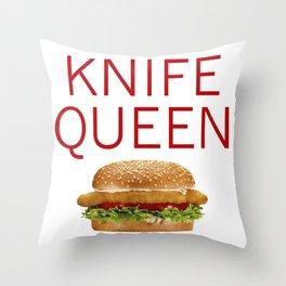 KNIFE QUEEN Throw Pillow