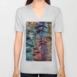 """""""Fall Faces: Camille 2"""" Unisex V-Neck"""