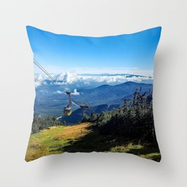 Cannon Mountain's Aerial Tramway Throw Pillow