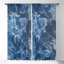 Deep Blue Blackout Curtain