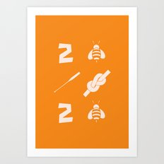 2 bee oar knot 2 bee Art Print