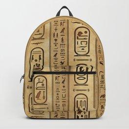 Egyptian hieroglyphs Vintage Texture Backpack