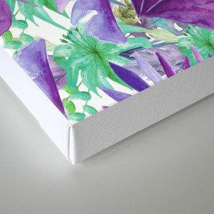 purple jungle Canvas Print