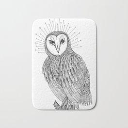 The Sacred Owl Bath Mat