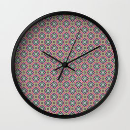 Origami Pattern, hand drawn ink pen Wall Clock