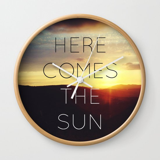Here It Comes Wall Clock