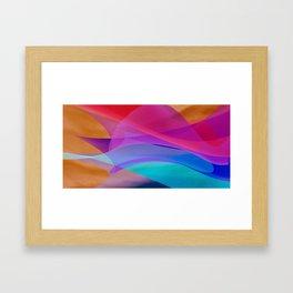 bicubic waves Framed Art Print