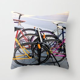 Parallel Parking Shuffle Throw Pillow