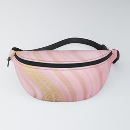 Walk with the waves - Pink and Gold Mermaid Marble Fanny Pack