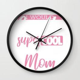 Football Mom Gift Supercool Football Mom Killing It Wall Clock