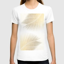 Palm leaf synchronicity - gold T-shirt