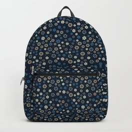 Festive Blue Snowflake Pattern Backpack