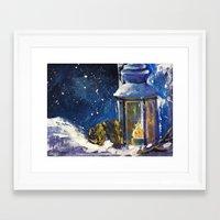 lantern Framed Art Prints featuring Lantern by TamTamArt