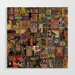 Rock n' roll stories II Wood Wall Art