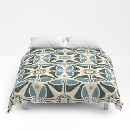 Blue Tulips - Circle Pattern Comforters