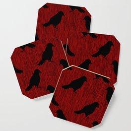 Black Ravens on Blood Red Coaster